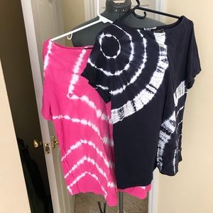 2 INC tie dye T-shirt's...  blue and pink